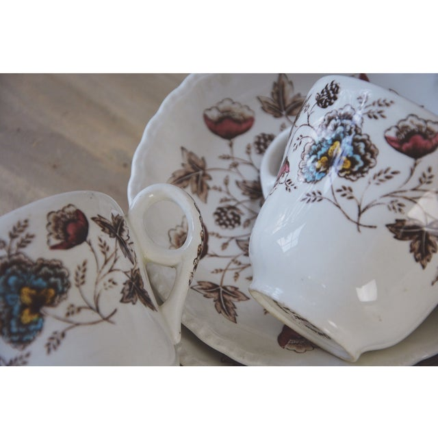 Traditional Vintage Floral Teacup and Saucer - Pair For Sale - Image 3 of 3