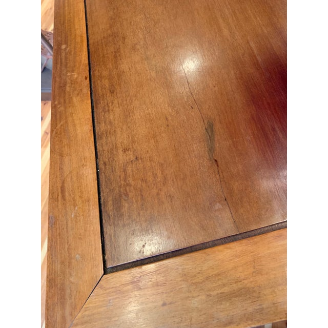 Gold 20th Century Campaign Solid Teak Partner Desk With Brass Hardware For Sale - Image 8 of 13