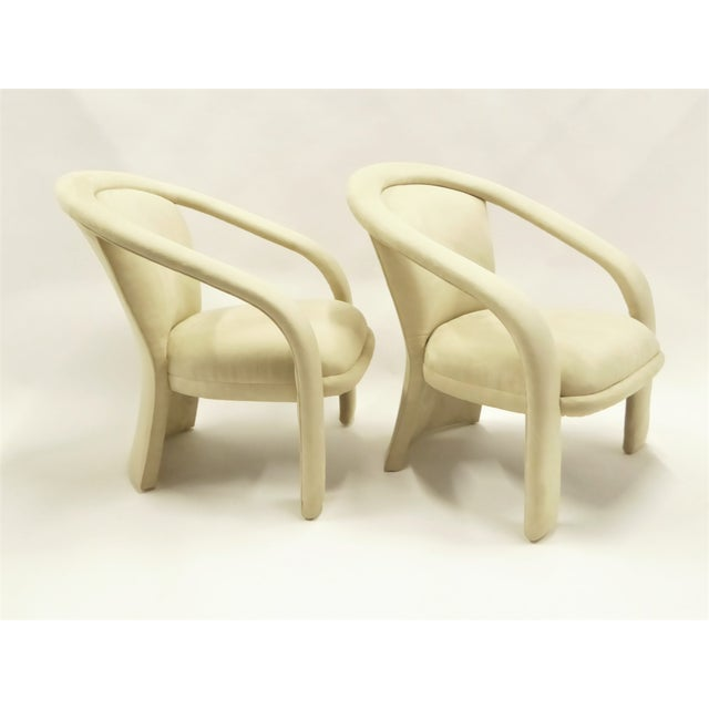 Space Age Modern Pair Pop Armchairs by Carson's, 1980s For Sale - Image 12 of 13