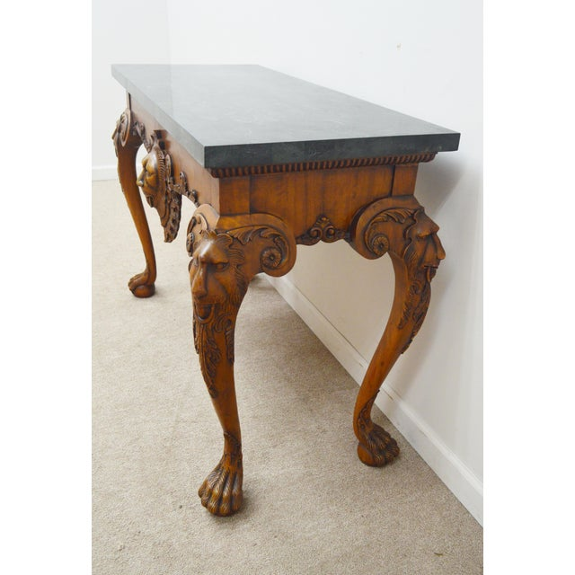 Maitland Smith Carved Lion Head Console Table For Sale In Philadelphia - Image 6 of 13