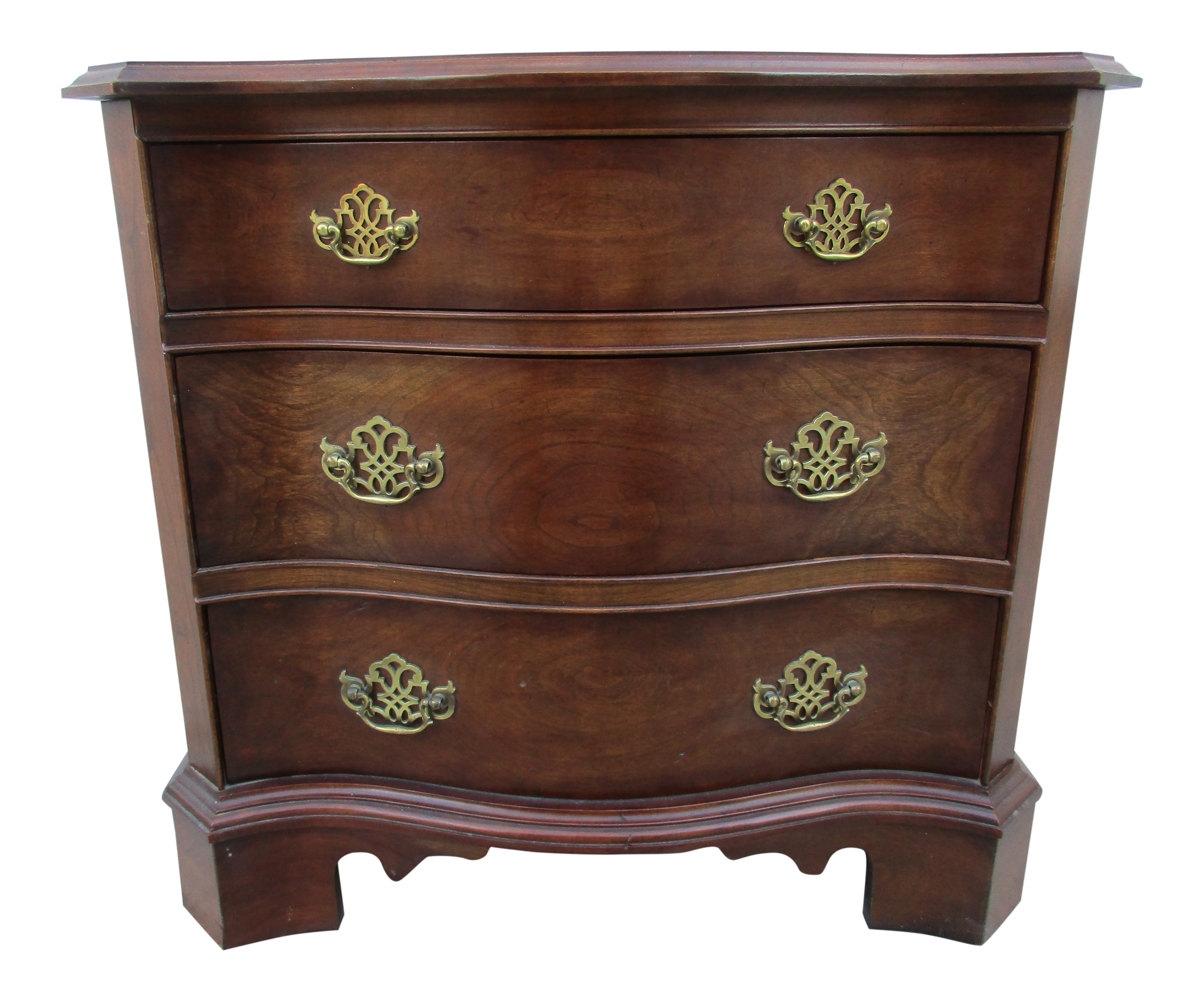 Late 20th Century Vintage Pennsylvania House Chippendale Style Low Chest  For Sale