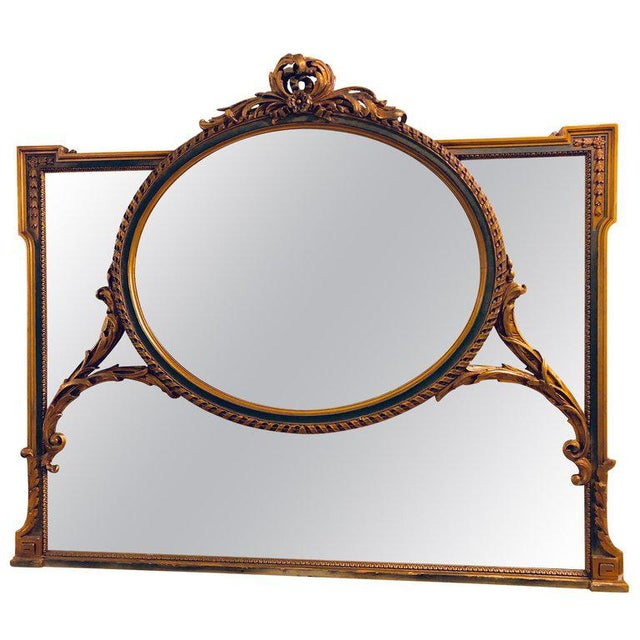 Finely Carved Hollywood Regency or Adams Style Over the Mantle or Wall Mirror For Sale - Image 13 of 13