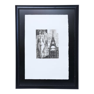 20th Century Black and White Engraving For Sale