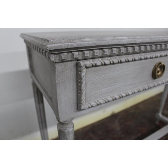20th Century Vintage Swedish Gustavian Style Console Table For Sale - Image 4 of 8