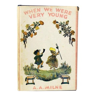 "1949 a.a. Milne Childrens' Poetry Book, ""When We Were Very Young"""