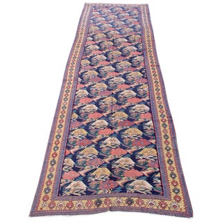 Vintage Senneh Kilim Runner For Sale