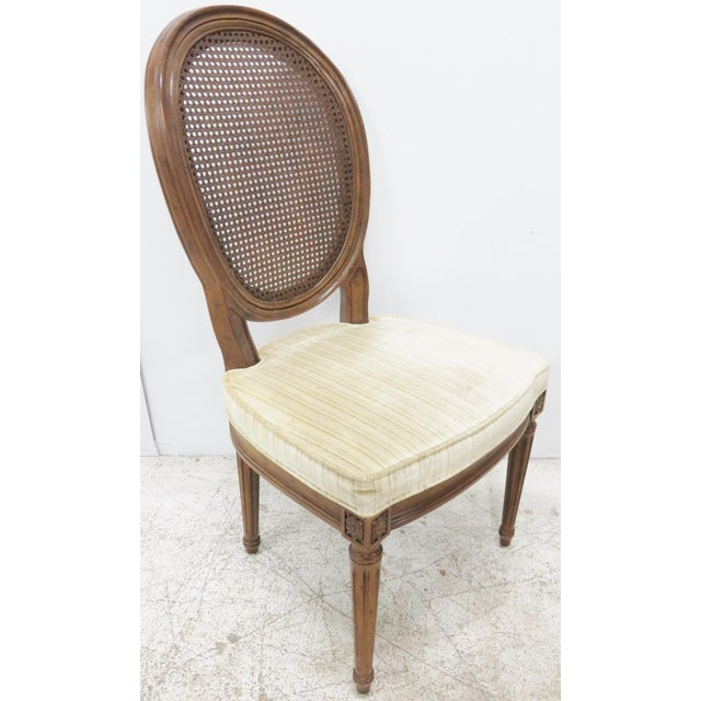 Louis XVI Style Caned Back Dining Chairs - Set of 6 - Image 6 of 8