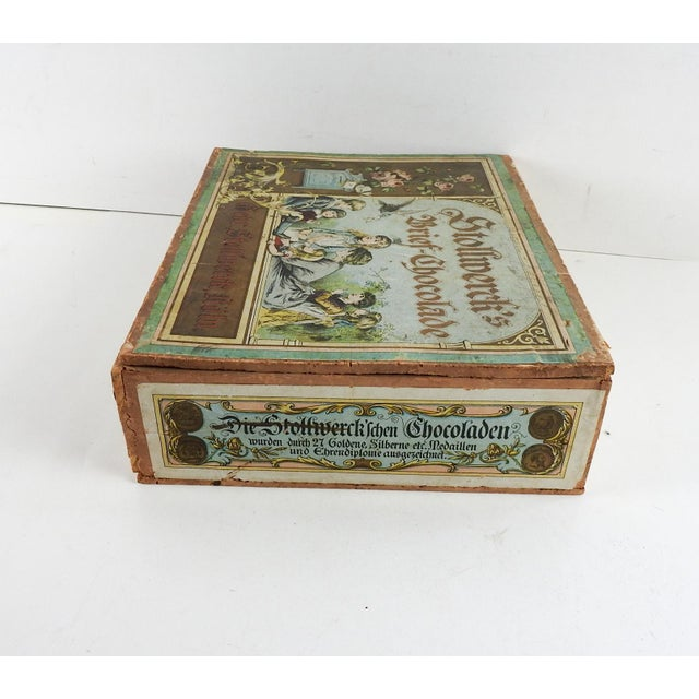 Antique German Chocolate Box For Sale - Image 4 of 6