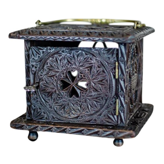Late 18th Century Wooden Foot Warmer For Sale