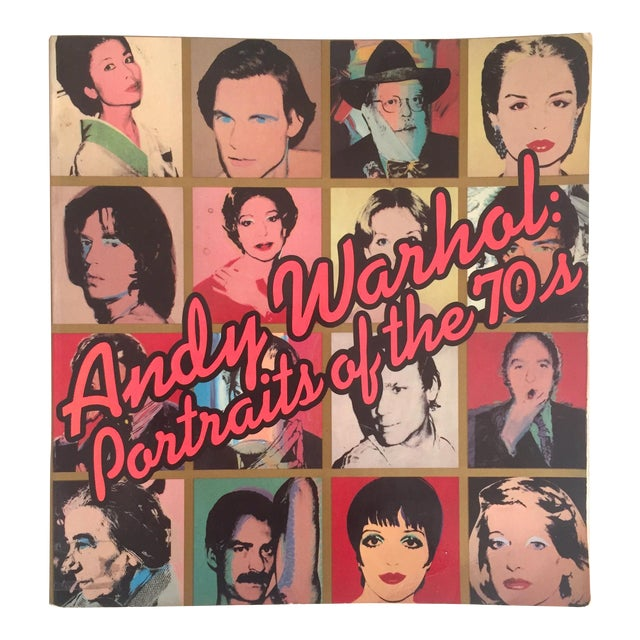 """""""Warhol Portraits of the 70's"""" Vintage 1979 Rare 1st Edition Collector's Art Book For Sale"""