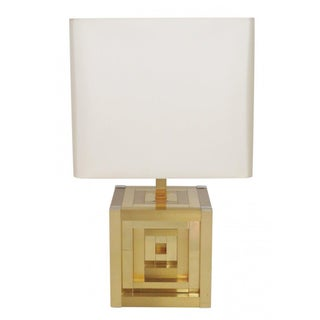 Willy Rizzo Lumica Geometric Table Lamp For Sale