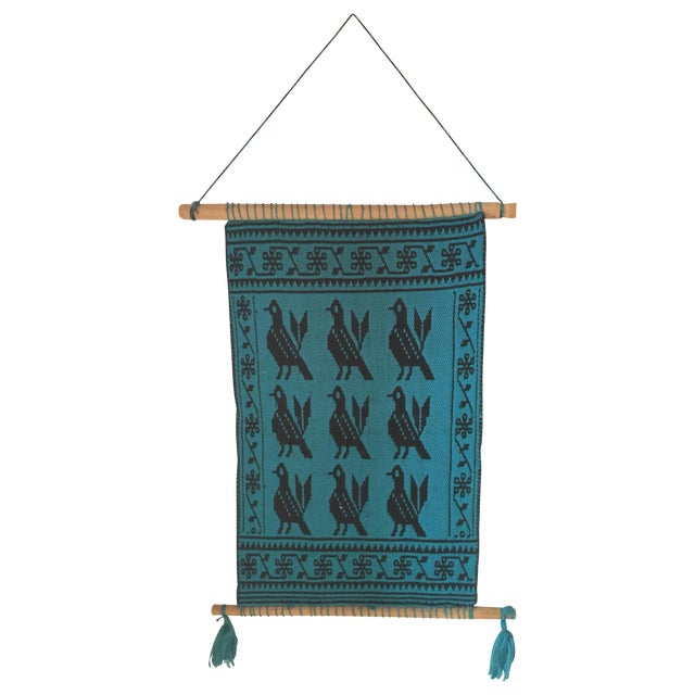 Vintage Peruvian Wall Tapestry For Sale