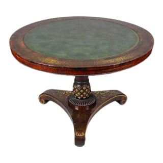 Regency Rosewood and Brass Tilt Top Table For Sale