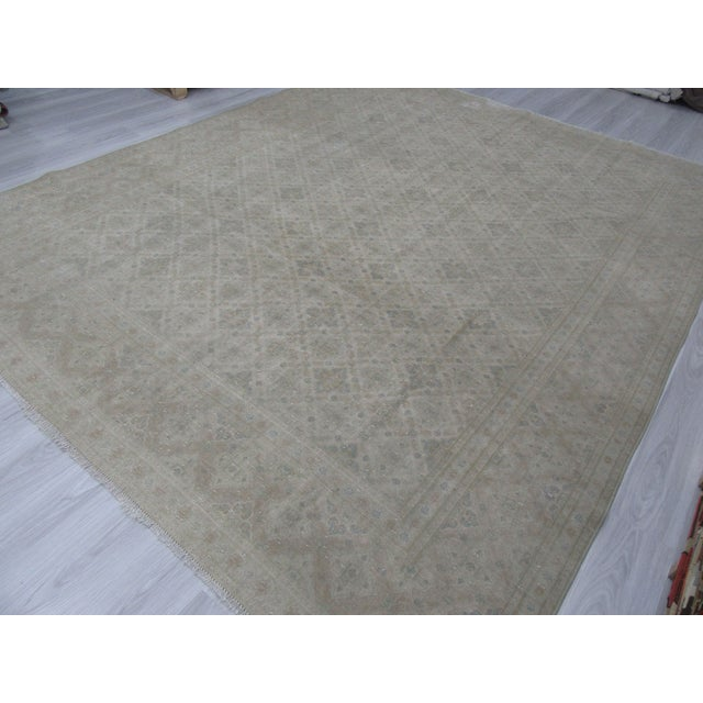 Washed Out Persian Tabriz Rug - 9′10″ × 12′6″ For Sale - Image 4 of 6