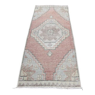 Vintage Handwoven Turkish Rug - 1′6″ × 3′5″