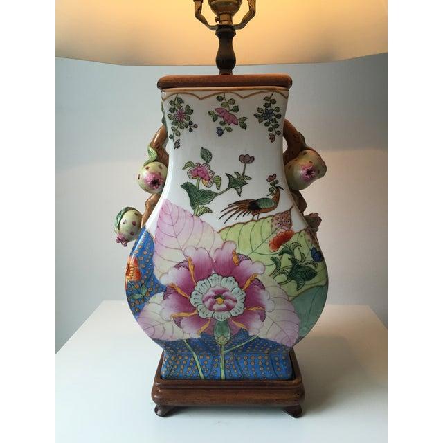 Vintage Porcelain Tobacco Leaf Lamp For Sale - Image 9 of 11