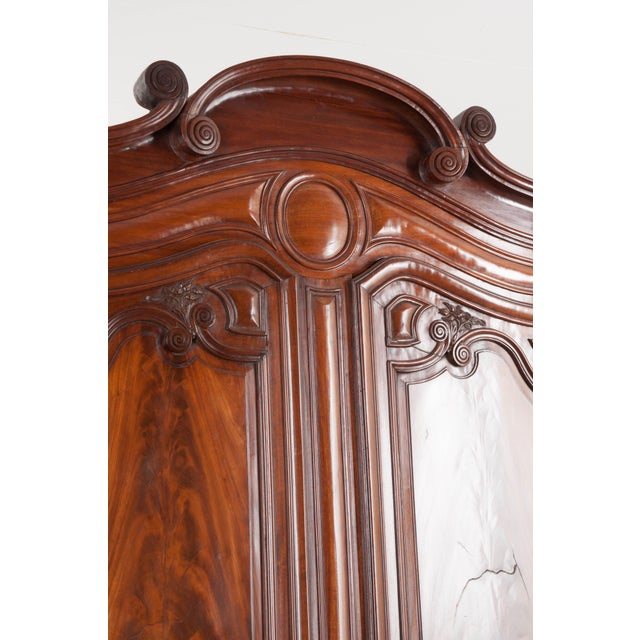 18th Century French Mahogany Armoire from the Port of Normandy For Sale - Image 12 of 13