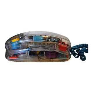 Conair See Thru Neon Phone Telephone With Fish in Base For Sale