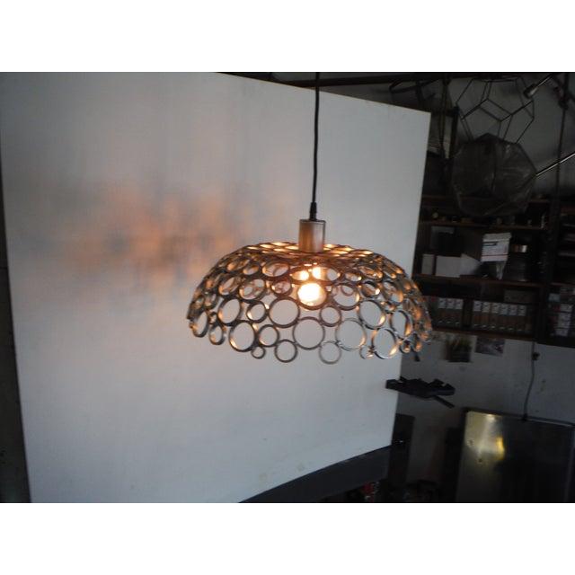 Tiffany Aluminum Pendant Light For Sale - Image 4 of 4