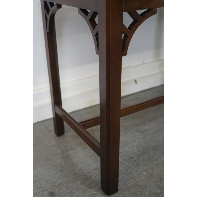 Kittinger Colonial Williamsburg Adaptation Mahogany Chippendale Writing Desk For Sale - Image 10 of 10