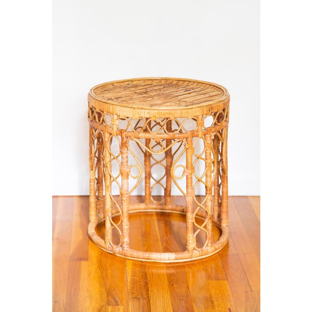 These unique, ornate tabouret tables look stunning tucked under a desk or console, used as plant stands or placed as side...