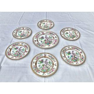 "Tea Sandwich Hand Painted Porcelain ""Indian Tree"" Royal Doulton Plates Circa 1930 - Set of 6 Preview"