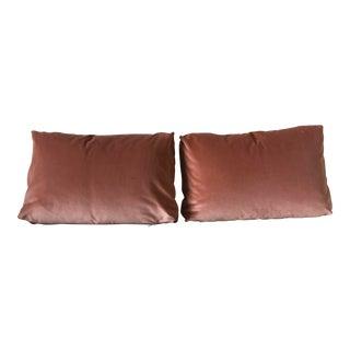 Kravet Versailles Peach Velvet Pillows - a Pair For Sale