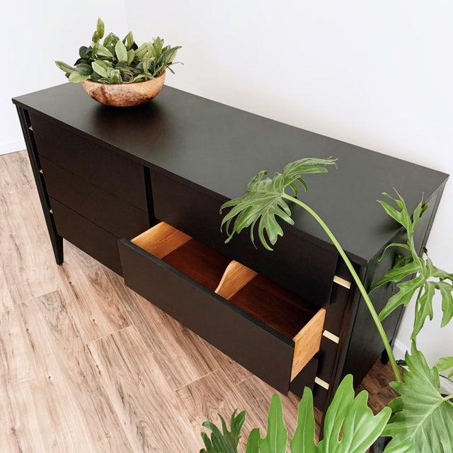 1970s Mid Century Modern Matte Black Dresser For Sale - Image 5 of 10