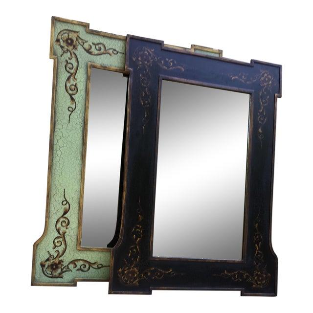 Design Rectangular Black / Green Mirrors For Sale