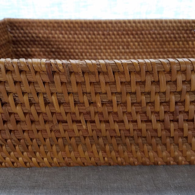 Natural Rattan Tray For Sale - Image 4 of 6