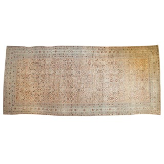 "Antique Distressed Malayer Carpet - 7'2"" X 16'3"" For Sale"