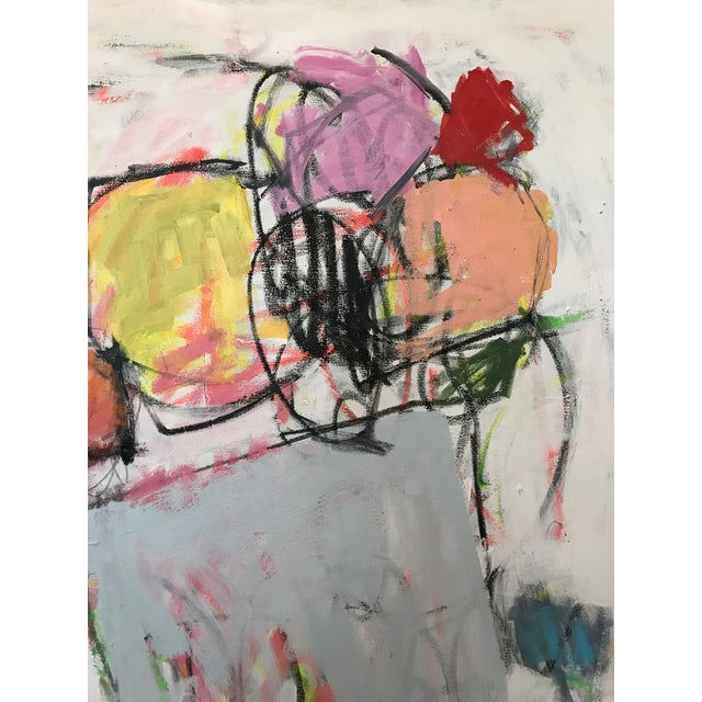 Scrappy Flowers No. 2 Contemporary Painting For Sale - Image 4 of 6