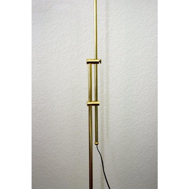 1970s 1970s Industrial Brass Pharmacy Floor Lamp For Sale - Image 5 of 10