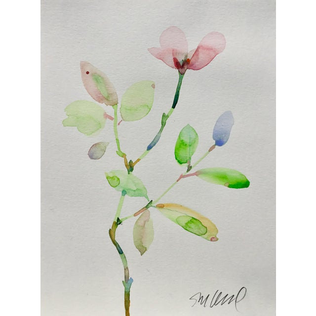 Realism Botanical 43, Original Watercolor, 9x12 For Sale - Image 3 of 3