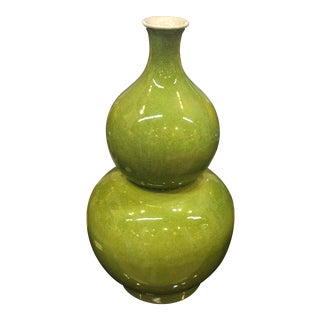 Mid-Century Modern 2-Tiered Large Gourd Vase For Sale
