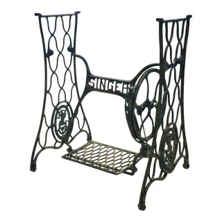 Vintage Industrial Singer Black Iron Treadle Sewing Machine Base