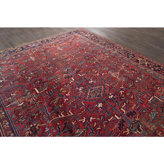 "Vintage Red Apadana Persian Rug - 8'2"" X 12' - Image 9 of 10"
