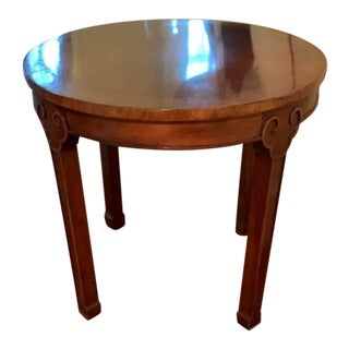 Traditional Kindel Round Side Table For Sale