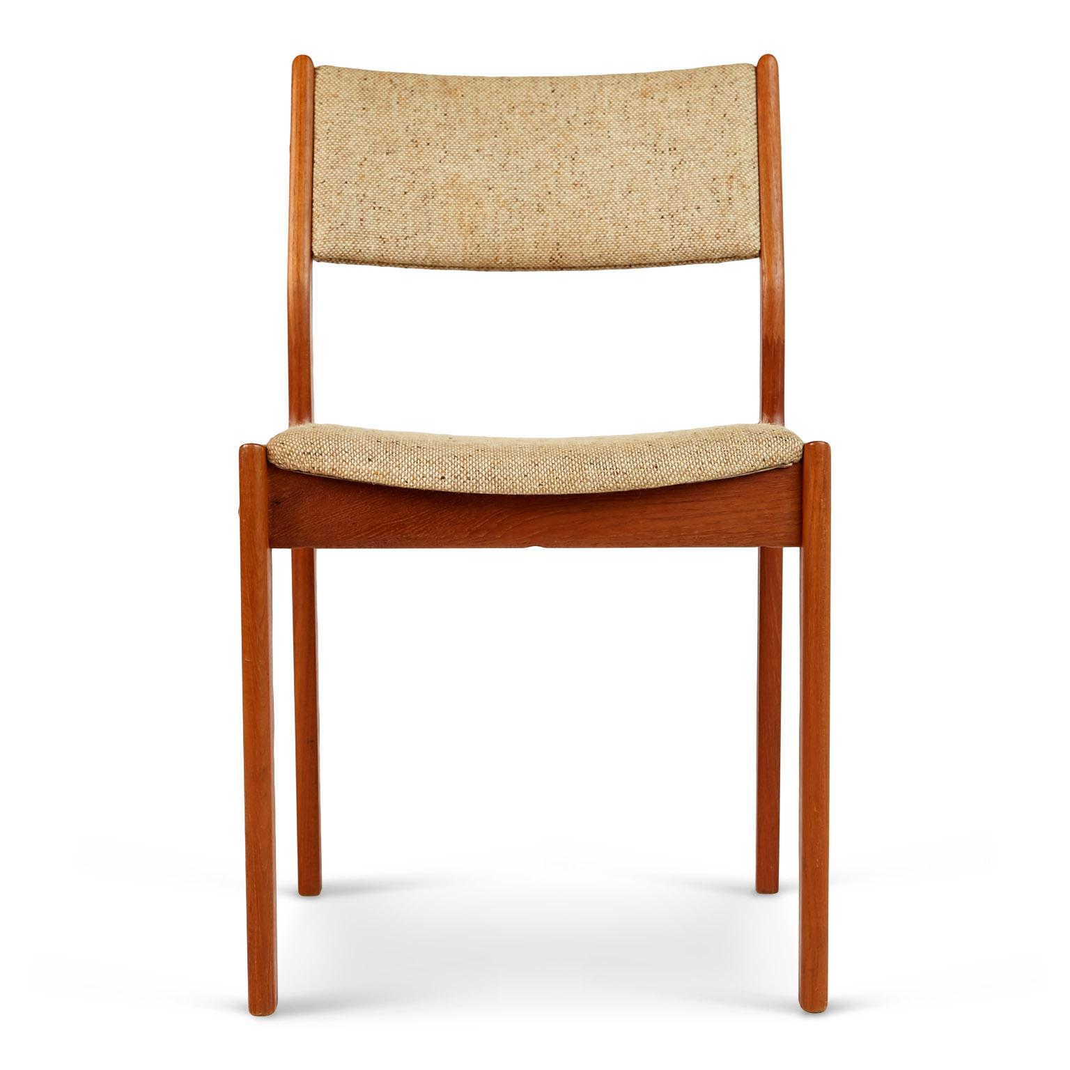 D Scan Teak Danish Modern Dining Chairs   Set Of 4   Image 3 Of