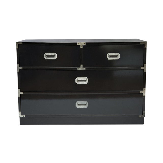 Black Lacquered Campaign Chest - Image 1 of 8