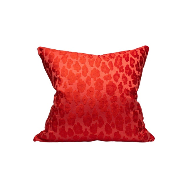 Scalamandre Chita Pillow, Tangerine For Sale