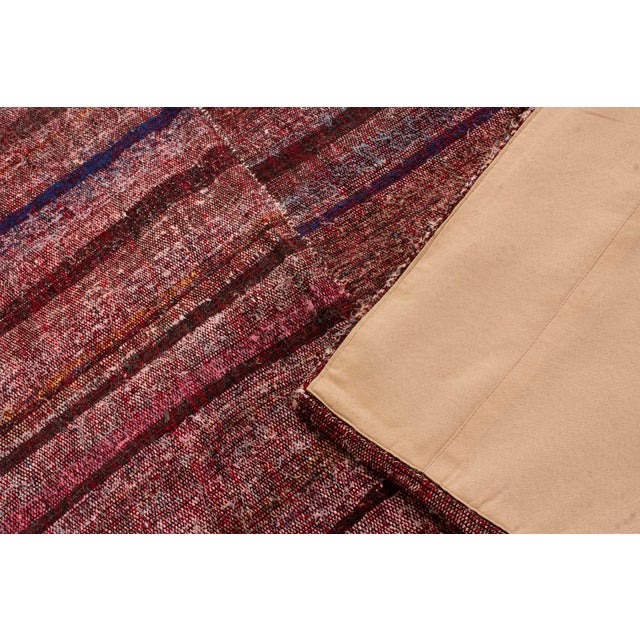 Vintage Mid-Century Striped Wool Kilim Rug - 5′6″ × 8′11″ For Sale - Image 4 of 6