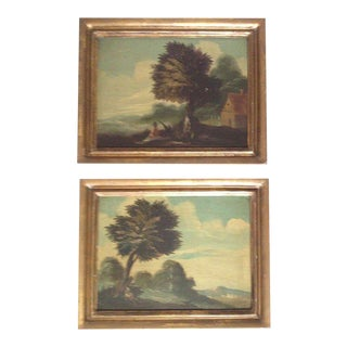 19th Century Italian Landscapes - A Pair For Sale