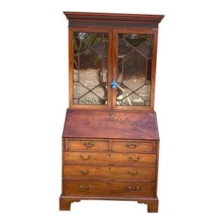 Antique English Secretary Desk With Hutch For Sale