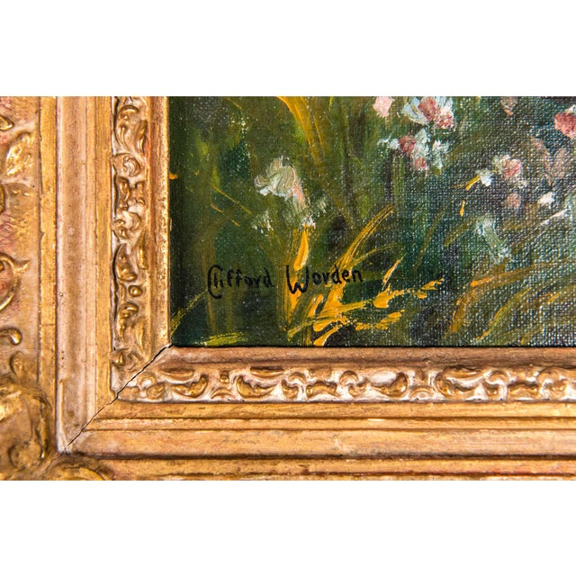 Wood Late 19th Century Pair Oil Painting / Giltwood Frame . For Sale - Image 7 of 13