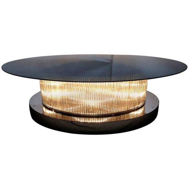 Monumental Italian Crystal Bars Coffee Table For Sale - Image 10 of 10
