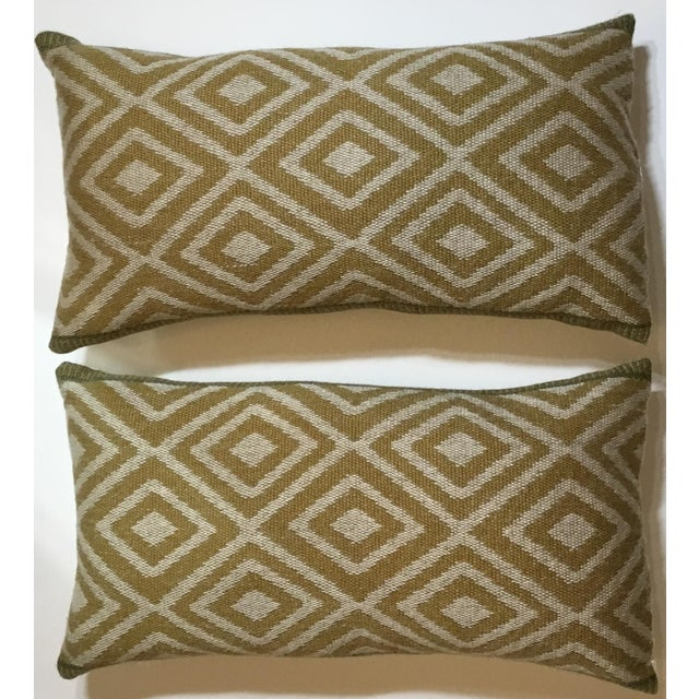 Vintage Geomtic Motif Pillows - A Pair - Image 4 of 9