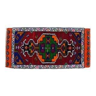 "Hand Made Rug. Colorful Oushak Rug, Bath Mat, Kitchen Sink Decor Doormat 1'6"" X 3'1"" For Sale"