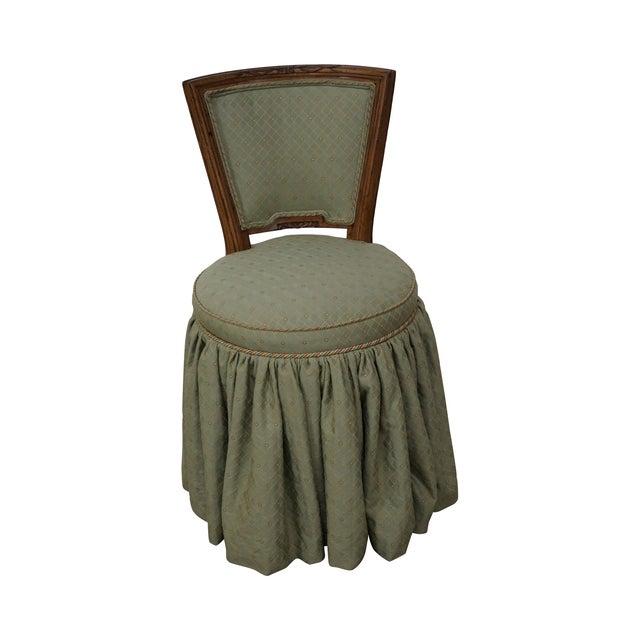 Quality Italian Walnut Swivel Vanity Chair - Image 1 of 10