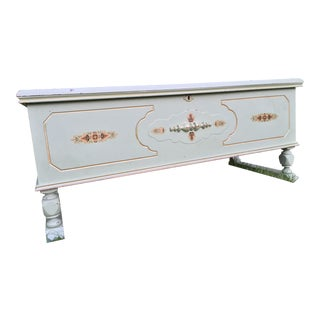 Lane Cedar Hope Chest - Light Sage Green With Gold Tole Accents